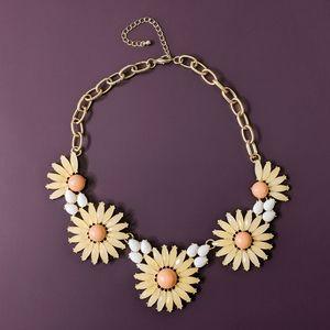 Pretty in Peach Statement Necklace